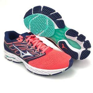 Mizuno Women Wave Shadow Fiery Coral Running Shoes